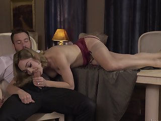 Blonde Lily Labeau enjoys another great cumshot session