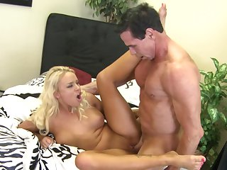 Peter North has unthinkable oral sex with Blonde Allexis Blow
