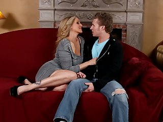 Michael Vegas uses his throbbing cock to bring blowjob addict Blonde Julia Ann with massive hooters to the edge of nirvana