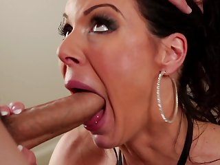 Brunette gal Kendra May Lust with huge boobs gets impaled on snake by hot guy
