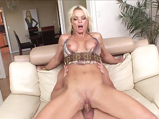 Blonde minx Chris Johnnson and her hard dicked fuck buddy enjoy sex too much to stop