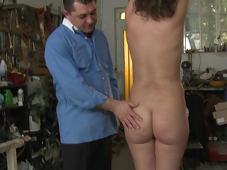 Redhead does lewd things and then takes cumshot on her pretty face