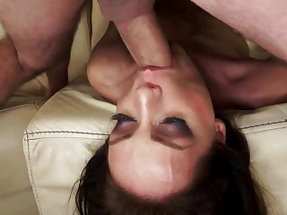 Brunette Sophie Lynx is addicted to cum