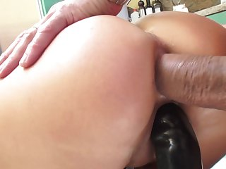 Mick Blue touches the hottest parts of playful Jasmine Jae's body before he fucks her mouth before she gets fucked in her chocolate speedway