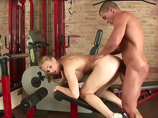 Blonde Tanya Tate with big hooters lets man cover her nice face in man goo