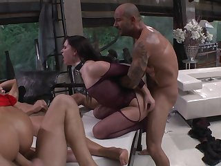 Erik Everhard can't resist unbelievably sexy Mea Melone's attraction and drills her mouth like crazy after she gets fucked in her asshole