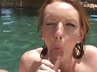 Redhead knows no limits when it comes to fucking with her hard dicked sex partner
