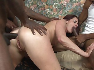 Cici Rhodes is on the way to orgasm with hard ram rod fucking her honeypot interracially