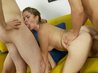 Alex Gonz bangs Blonde Sierra Sanders as hard as possible in anal sex action after throat job