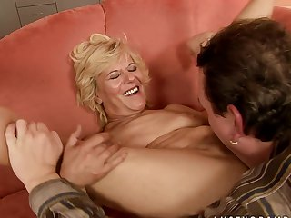 Mature lets man put his fuck stick in her mouth