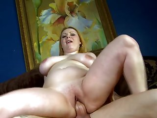 Pale BBW with big tits Lily Lovely gets boned