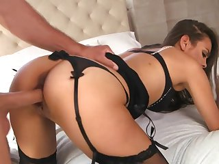Bobbi Rydell - Hot sex in black lingerie