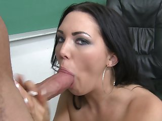 Brunette Megan Foxxx is on fire in this sex scene