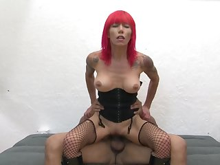 Milf latin shows her slutty side to hard cocked guy by taking his sturdy love wand in her mouth