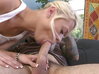 Teen chick Rebecca Blue wants this blowjob session with hard cocked dude Tommy Pistol to last forever